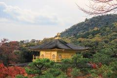 Jesień przy Kinkakuji TempleGolden pawilonem, północny Kyoto, Japonia Obraz Stock