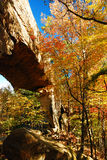 Jesień przy Naturalnym Bridżowym stanu kurortem obraz royalty free
