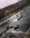 Jesień przy rzeką Zdjęcie Stock