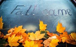 jesień przychodził obrazy stock
