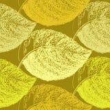 Jesień ręka rysujący liść Tapetowy bezszwowy deseniowy tło Zdjęcia Royalty Free
