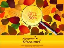Jesień rabatów krajobraz Zdjęcie Stock