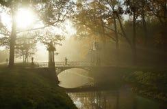 Jesień ranek Chiński most Obraz Stock
