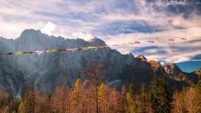Jesień ranek w alps Zdjęcie Royalty Free