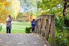 jesień rodzina Obraz Royalty Free