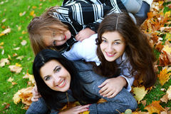 jesień rodziny park zdjęcie royalty free