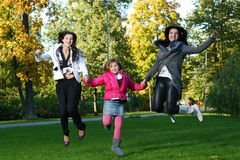 jesień rodziny park obrazy royalty free