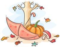 Jesień rysunek royalty ilustracja