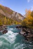 jesień rzeka Zdjęcie Royalty Free