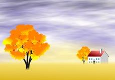 jesień sceniczny krajobrazowy Fotografia Royalty Free
