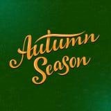 Jesień sezonu literowanie Ręka rysujący skład Kreśli, projektuje, elementy dla kart, druków, sztandarów, plakatów i więcej, Obrazy Royalty Free