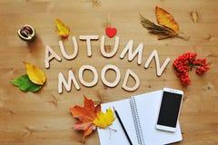 Jesień składu tło Zdjęcia Stock