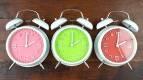 Jesień spadku światła dziennego oszczędzania czasu zegary Zdjęcie Stock