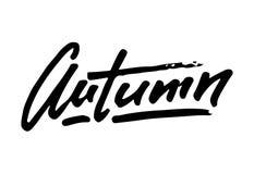 Jesień spadku życia stylu inspiracja przytacza literowanie Ręcznie pisany kaligrafia graficznego projekta element Jesień spadek m Fotografia Royalty Free