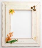 Jesień spadku drewniana rama Obrazy Stock