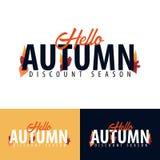 Jesień spadku emblemat i logo również zwrócić corel ilustracji wektora Zdjęcia Stock