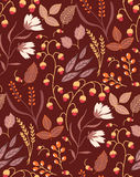 Jesień spadku jesieni kwieciści bezszwowi deseniowi liście Obraz Royalty Free