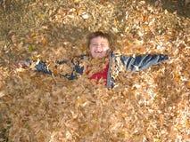 jesień szczęście Zdjęcia Stock