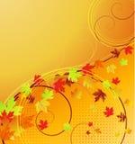 jesień sztandaru liść Fotografia Royalty Free