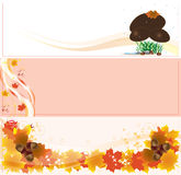 jesień sztandary Zdjęcia Royalty Free