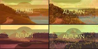 jesień sztandary ustawiający Fotografia Stock