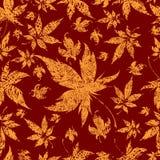 jesień tła kolorowi liść bezszwowi ilustracji