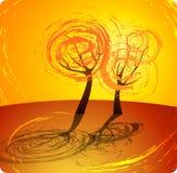 jesień tła pomarańczowy drzewo Obrazy Stock