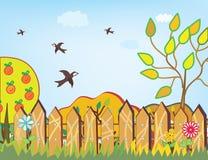jesień tła ptaki ilustracja wektor