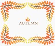jesień tła ramy liść biel ilustracja wektor