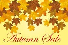 jesień tła sprzedaż Obrazy Royalty Free