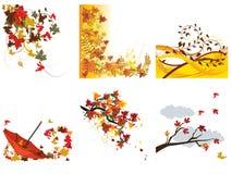 jesień tła ustawiają Zdjęcie Royalty Free