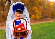 Jesień TARGET1117_0_ jabłka Zdjęcia Stock