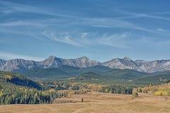 Jesień w Baraniej Rzecznej dolinie zdjęcie stock
