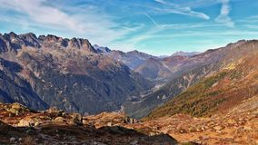 Jesień w francuskich alps Chamonix Mont Blanc dolina, haute-savoie, Francja zdjęcie stock