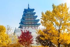 Jesień w Gyeongbokgung pałac, Seul w Południowym Korea Obrazy Stock
