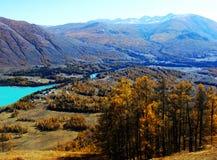 Jesień w jeziornych kanas obrazy stock