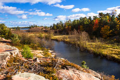 Jesień w Killarney prowincjonału parku Ontario Kanada Obraz Stock