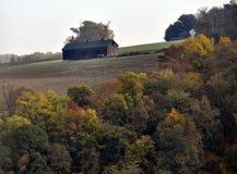 Jesień w kraju z różnorodność różnym kolorem opuszcza fotografia stock