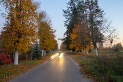Jesień w mieście fotografia stock