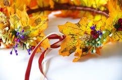 Jesień wianek jesień liście Robi mię yourself na instrukcjach Zdjęcia Royalty Free