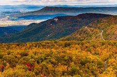 Jesień widok Appalachians od Loft góry, Shenandoah N fotografia royalty free