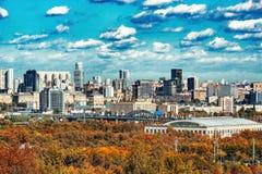 Jesień widok południowa dzielnica miasta fotografia royalty free