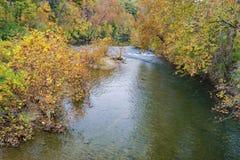 Jesień widok Roanoke rzeka zdjęcia royalty free