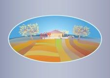 Jesień wiejski krajobraz Obraz Stock
