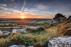 Jesień wschód słońca Obraz Stock