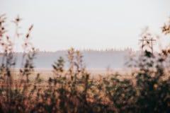 Jesień wschód słońca w wsi zdjęcie royalty free