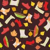 Jesień wzór - ilustracja Obraz Royalty Free