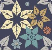Jesień wzór z nowożytnymi kwiatami Zdjęcie Royalty Free
