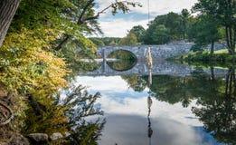 Jesień wzdłuż rzeki Obraz Stock