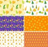 Jesień wzoru Bezszwowy set Płaski projekt również zwrócić corel ilustracji wektora Obrazy Stock